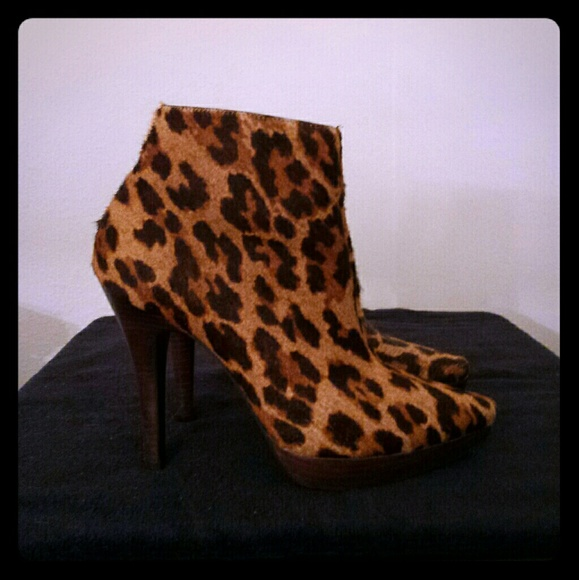 Steve Madden Leopard Ankle Boots